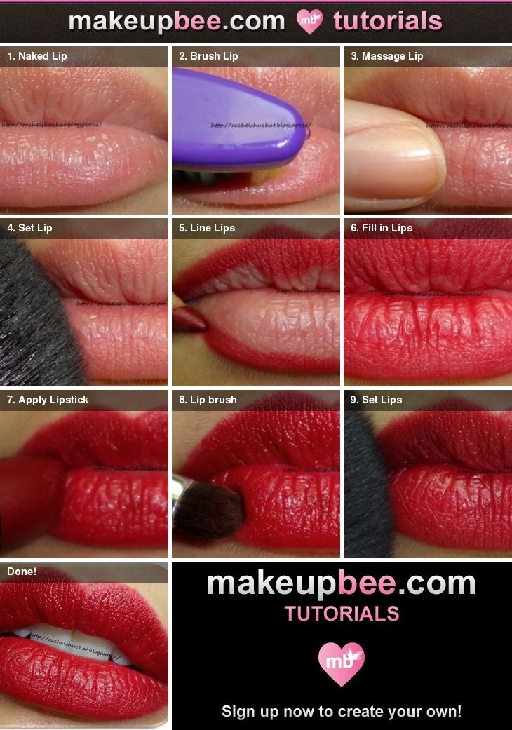 Lipstick Tutorial: 1000+ Ideas About Perfect Red Lips On Pinterest