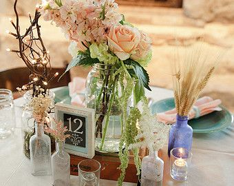 Foral arrangment in cigar box | Complete Wedding Centerpiece vint age/shabby chic/rustic/ Cigar boxes ...