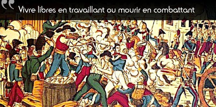 21 novembre 1831 : début de la révolte des canuts, ouvriers tisserands Un drapeau noir mais un combat économique ?