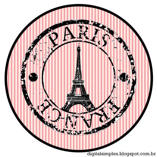 Kit Personalizado Tema Festa Paris para Imprimir - Convites Digitais Simples