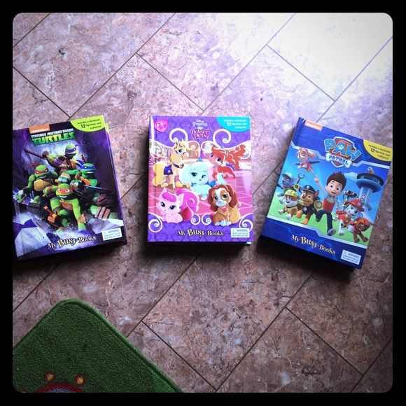 Three activity books New Selling new  thee activity books with chunky style book play mate and figurines for pretend play . Selling as a group for 40 . If I get some one interested in just one then it's 15 . Item comes from smoke fee home Other