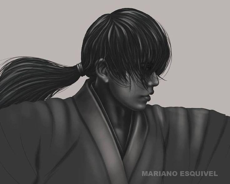 Rurouni Kenshin (pieza en proceso). Tableta Wacom