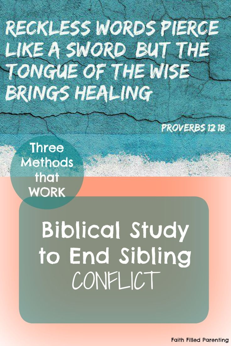 essay on sibling rivalry in the bible Sibling rivalry sibling rivalry is one of humanity's oldest problems one of the first stories in the bible deals with the rivalry between two brothers, cain and abel.