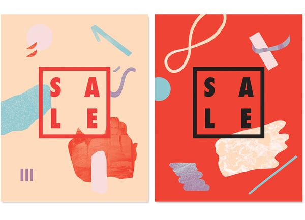 Sale posters, specific discount signage, sale hangtags, Aritzia and TNA S/S '12 Sale campaigns, by Maggie Chok