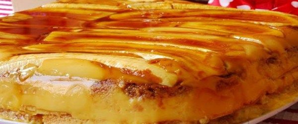 Foto - Receita de Torta Cremosa de Banana