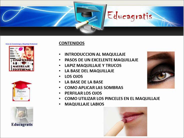 Cursos gratis de Cosmetología y Maquillaje Profesional