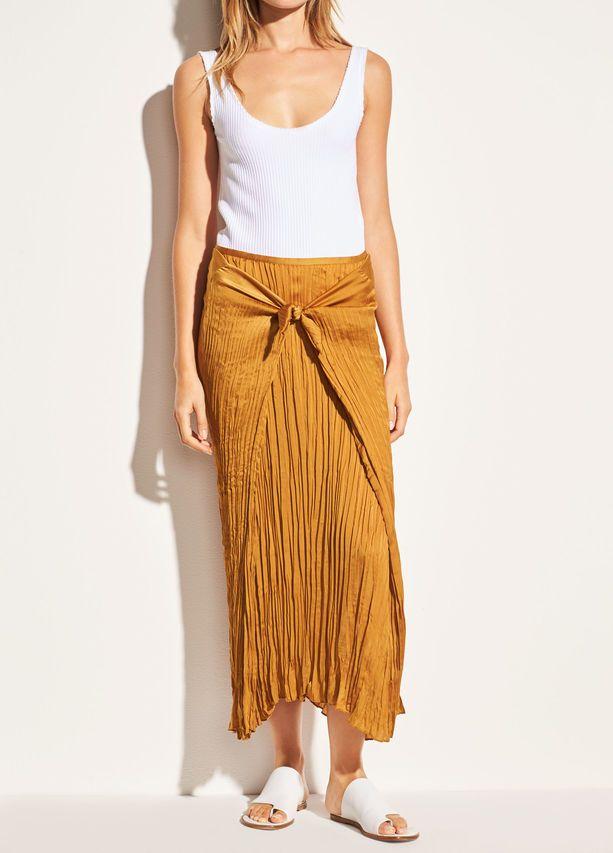 006b02d34f Pleated Tie Front Skirt for Women | Vince | Boutique Imaginaire ...