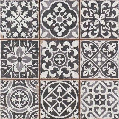 Fliese schwarzweiß / Tile black and white