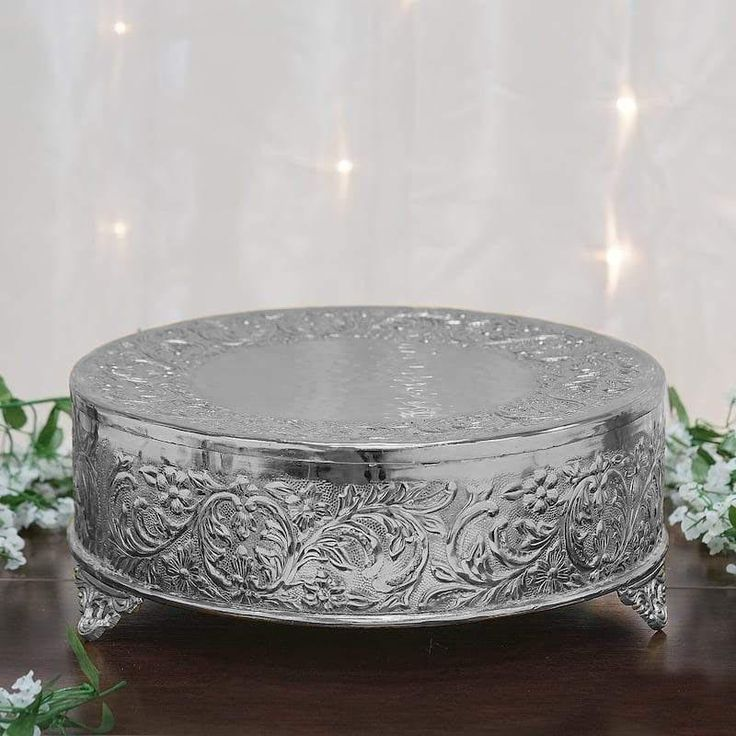 Silver Cake Plateau Cake Stand by MaleriesCuriosities on Etsy