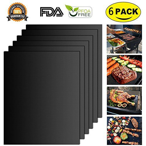 From 6.85 Blingco Bbq Grill Mat Set non Stick Oven Liner Teflon Cooking Mats Perfect For Baking On Gas Charcoal Oven And Electric Grillsreusable Durable Heat Resistant Barbecue Sheets (black 6 Set)
