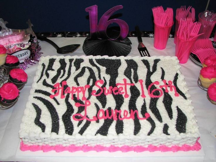 Pin By Feeleh On Party Zebra Birthday Cakes Pink