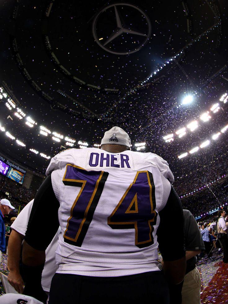 ... Michael Oher at the Super Bowl ... e509f1e2b