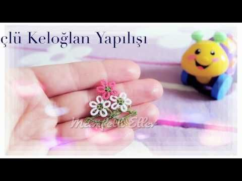 Mekik ve İğne Oyası İle Üç Boyutlu Çiçek Yapılışı - YouTube