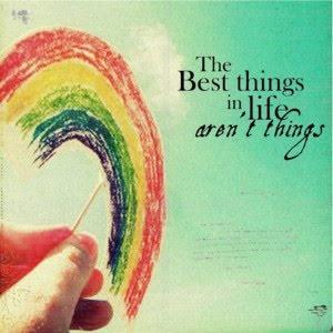The best things in life aren't things. / Les plus belles choses, dans la vie, ne…