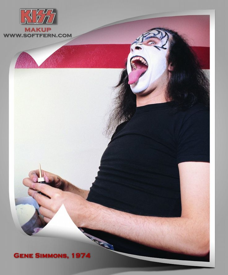 """Gene Simmons, 1974        How members «Kiss» group applied their famous makeup. ... 25  PHOTOS        ... Gene Simmons appeared in the form of """"Demon» (Demon), Peter Criss - """"Cat» (Catman), Ace Frehley - """"Space Ace» (Space Ace), and Paul Stanley - """"Star Child »(Star Child).        Originally posted:         http://softfern.com/NewsDtls.aspx?id=1087&catgry=15            #Peter Criss, #SoftFern News, #«Kiss», #makeup members «Kiss» group"""