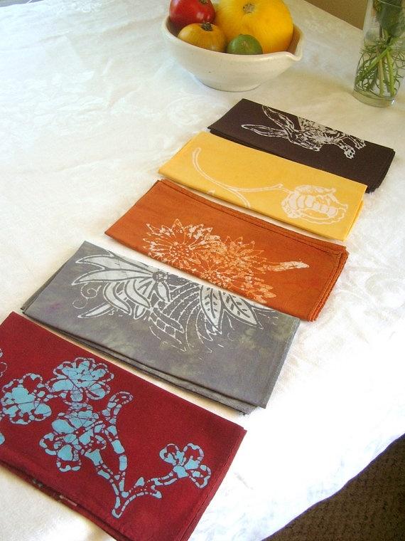Batik- Dyed Napkins!