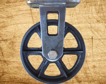 4 pouces en fonte Vintage roulette avec jante Etoile par VISupply