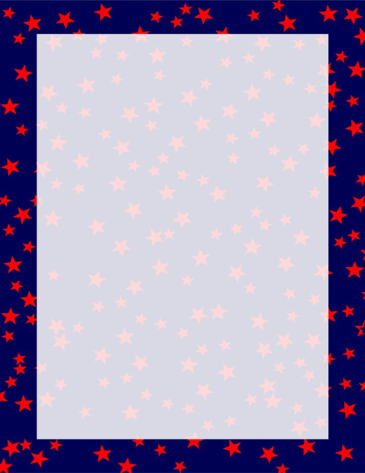 Stars Border Navy and Red