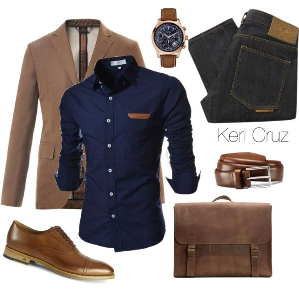 Men's fashion by keri-cruz on Polyvore featuring Emili, Zegna, Natural Selection, Paul Smith, GUESS and Allen Edmonds