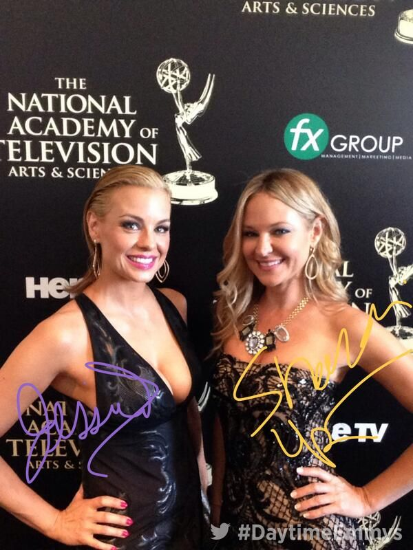Jessica Collins  and Sharon Case