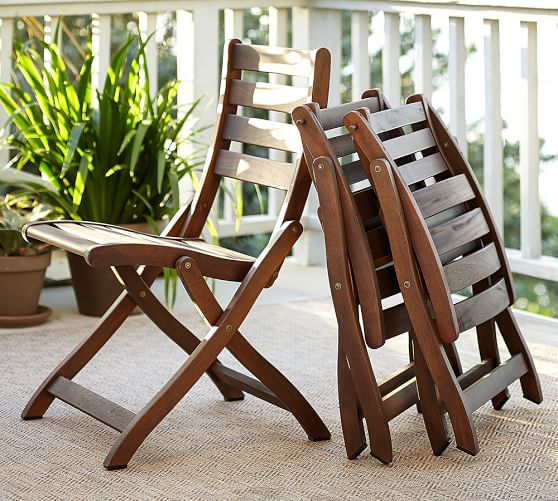 Chatham Folding Dining Chairs | Pottery Barn