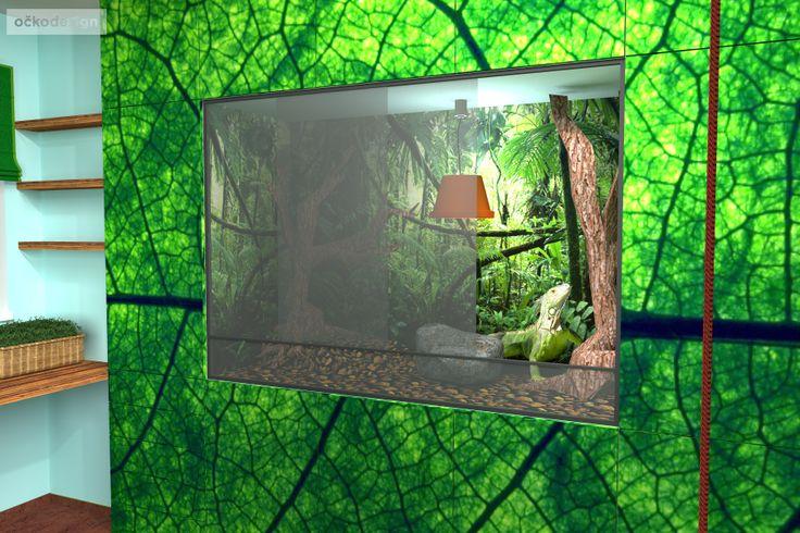 Když je dětský pokoj pro dva. Pro chlapce a leguána zeleného.  Petr Molek interiérový design 737167676 www.ockodesign.cz