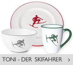 Gmundner Keramik Toni - der Skifahrer