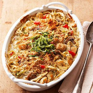 If you love a luscious and moist chicken casserole, then this is the casserole recipe to choose. The condensed broccoli soup and sour cream add the creaminess you yearn for. Better yet, the easy recipe is ready to bake in jus