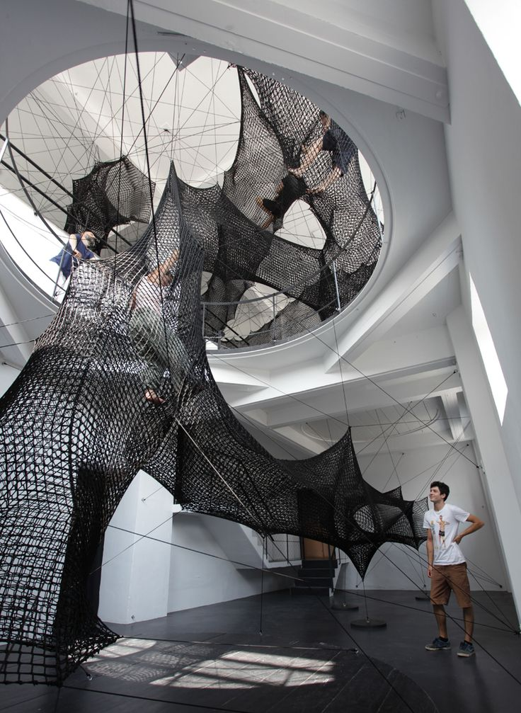 numen/for use stitches an interactive, tensile tunnel through austria gallery
