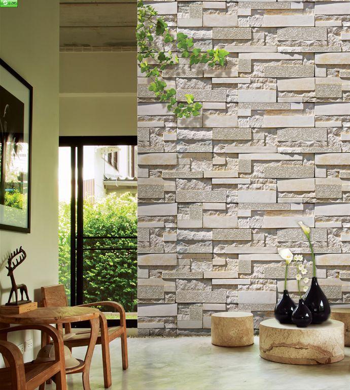 3D Cultured Stone Wallpaper