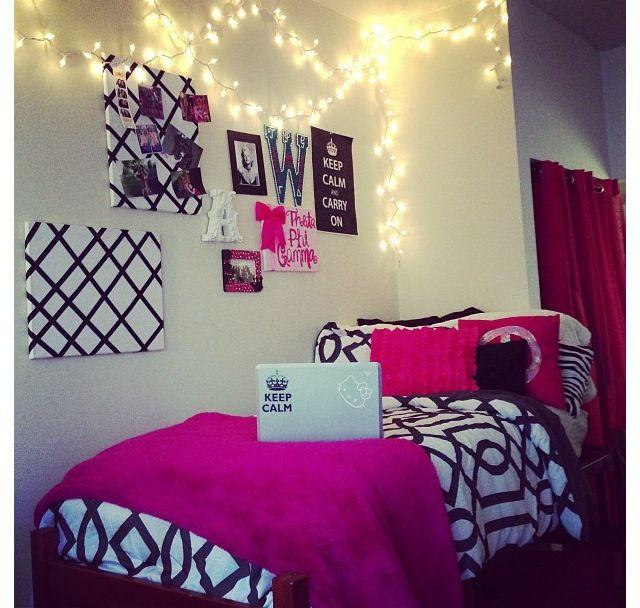 Dorm, Tsm, College, Sorority, Pink, Black, Lights, Dorm