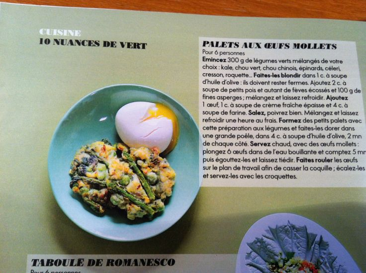 Palets aux œufs mollets