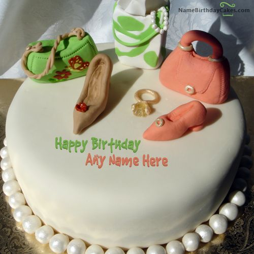 Write Name On Birthday Cake For Fashion Designer Picture Hbd Cake