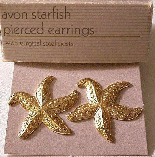 624252f2e Avon Starfish Pierced Earrings Gold - $18.99 . #clip, #pierced, #bridal