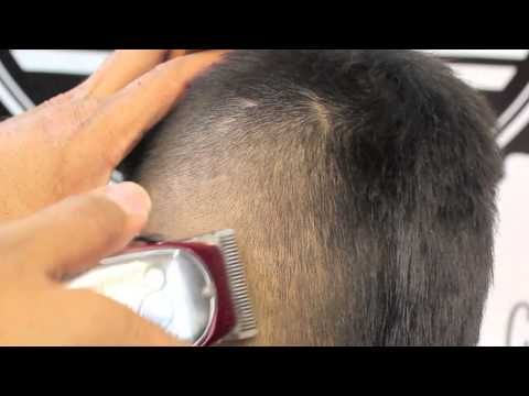 How to do a Burst Fade Mohawk by Andy FadeMaster