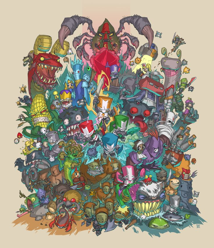 Castle Crashers , Peet Cooper on ArtStation at https://www.artstation.com/artwork/q6J0D