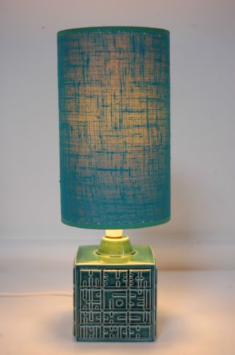 89 best retro vintage lighting images on pinterest midcentury retro 1960s poole pottery helios green blue cube table lamp rewired greentooth Choice Image