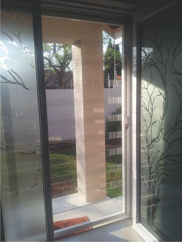 Clear burglar bars. #SA #Security #ModernDesign #sleek #clear #clean #strong #home #safety