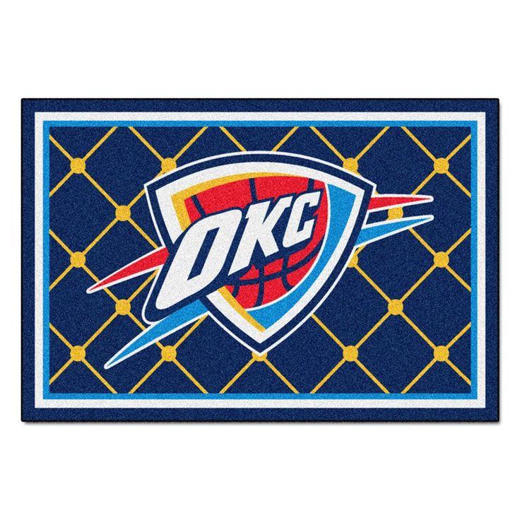 Oklahoma City Thunder NBA 5x8 Rug (60x92)