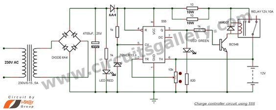 12v lead acid battery charger automatic circuit electronic circuit