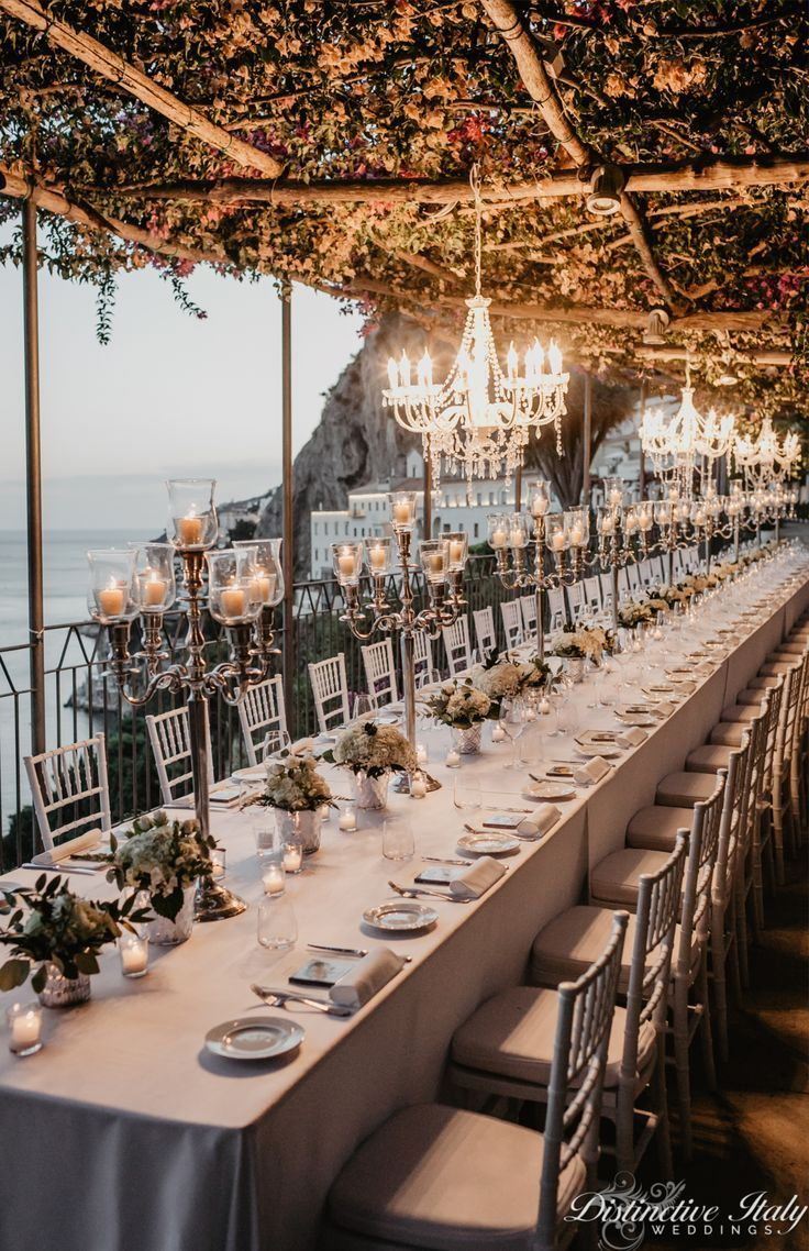 Luxury Amalfi Coast Wedding Table Decor Weddingvenue