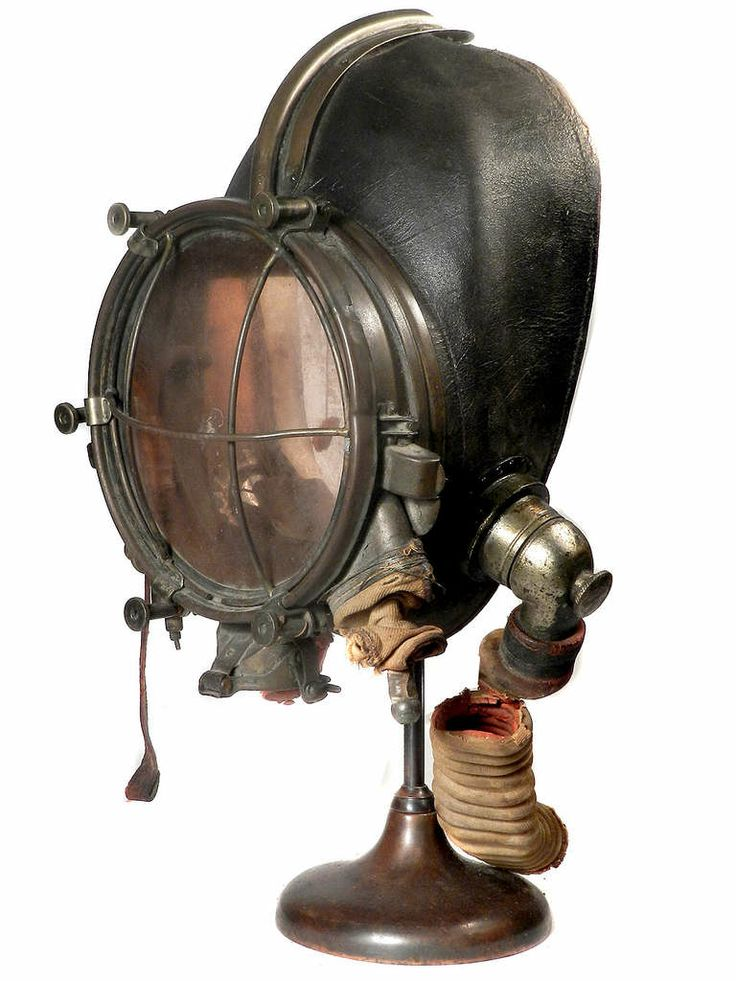 Very Rare and Important 1910 Drager Smoke Mask http://www.1stdibs.com/furniture/more-furniture-collectibles/scientific-instruments/