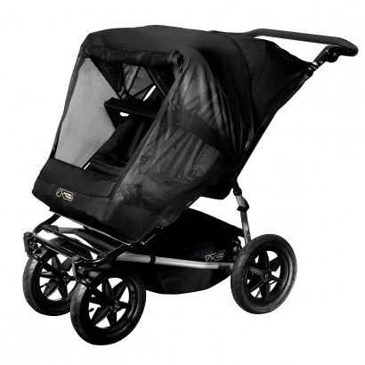 Sun cover for duo stroller by Mountain Buggy