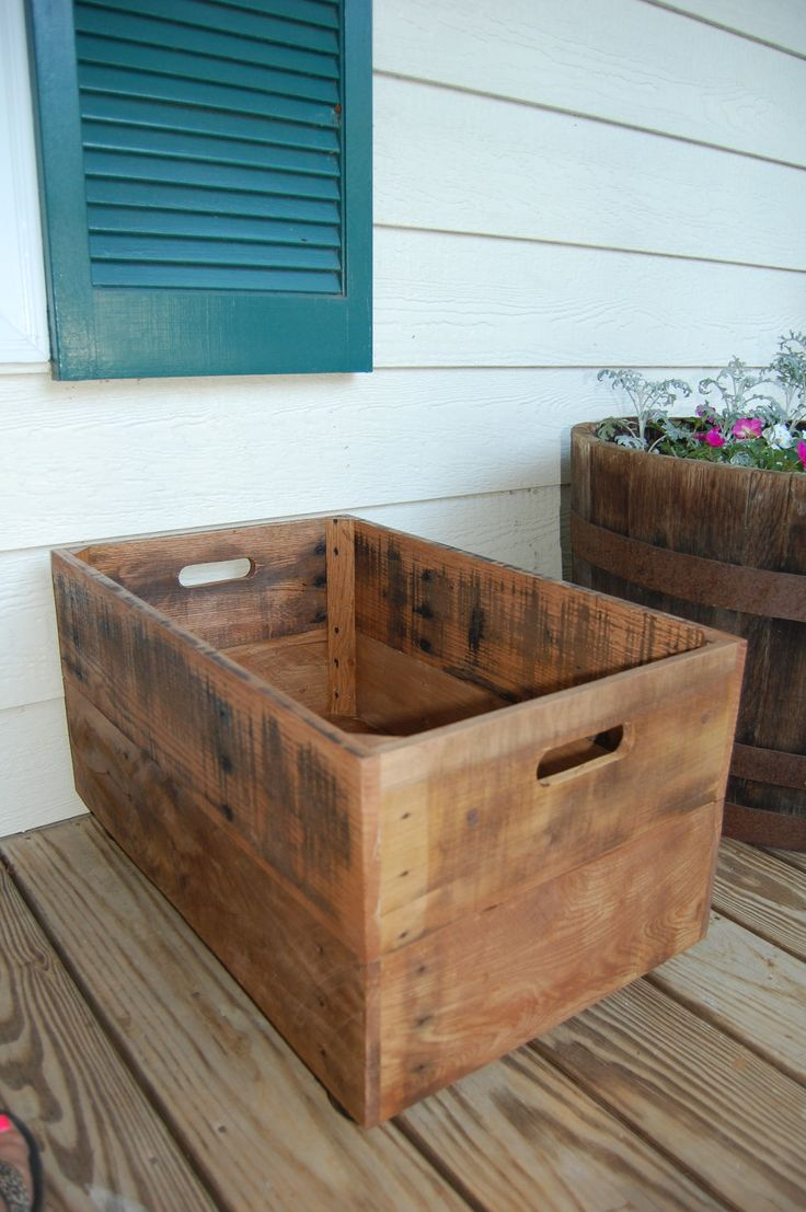 Large Rolling Crate from Recycled Pallet. $79.00, via Etsy.