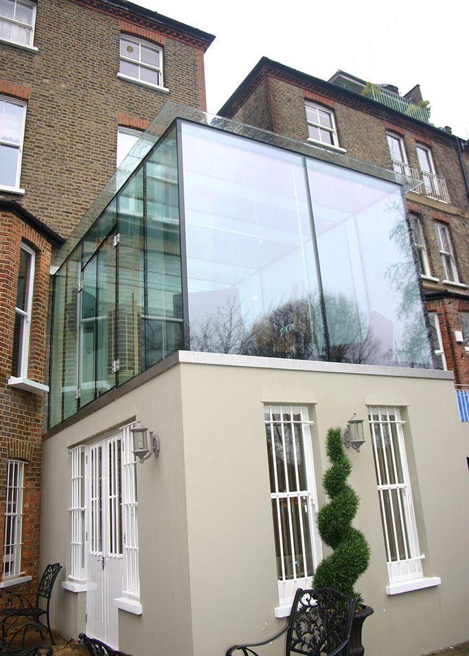 8 best frameless glass extensions by room outside images. Black Bedroom Furniture Sets. Home Design Ideas
