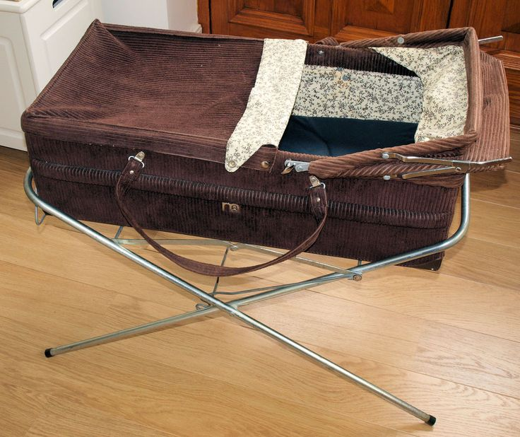 Vintage Mothercare Brown Corduroy Carrycot and Stand in Baby, Pushchairs, Prams & Accs., Pushchairs & Prams | eBay