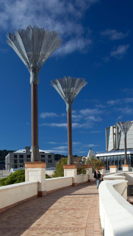 Neil Dawson siteworks - Nikau Palm sculptures - Wellington Civic Square, New Zealand