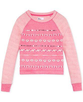 Epic Threads Girls' Graphic Raglan Sweatshirt - Kids Girls 7-16 - Macy's