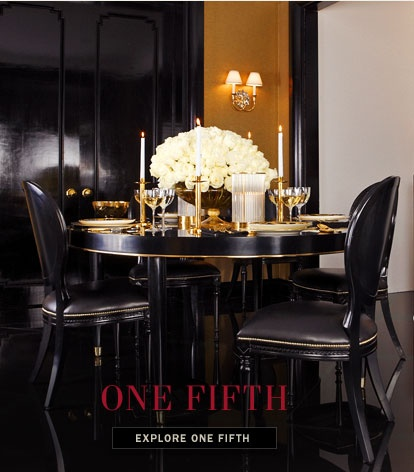 Black White And Gold Dining Room Ralph Lauren Home