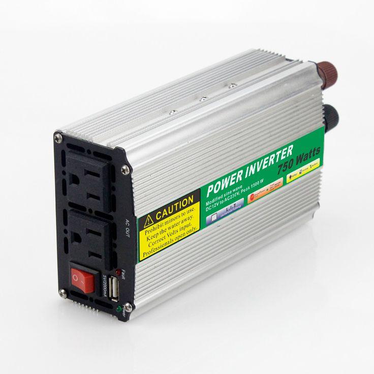 MAYLAR@ 1pcs 750W Mini Size Car Power Inverter Converter DC 24V to AC 110V or 220V Modified Sine Wave Power Solar inverters #Affiliate
